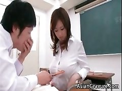Sexy and naughty asian teacher shows her part3