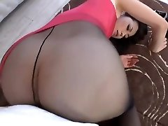 Maki Hojo Taunting And Fucking In Tights Uncensored