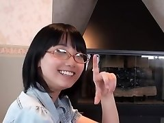 Japanese Glasses Woman Blowjob