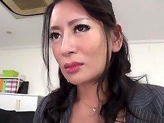 Greatest Japanese girl Rei Kitajima in Horny stockings, blowjob JAV clip
