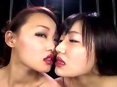 Japanese Lesbian Lip Liner Kiss II