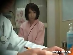 Redhead japanese beauty gets baps checked at doctor