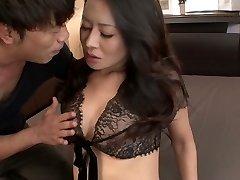 Impressive buxom Chinese Rei Kitajima gets her hungry pussy banged