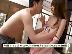 Rio Asian damsel gets her hairy pussy licked