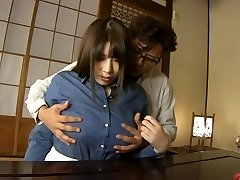 Super-naughty Japanese model Chitose Saegusa in Horny cunnilingus, plumper JAV clip