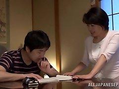 Chiaki Takeshita titillating mature Japanese babe in position 69
