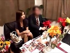 Chinese wife gets massged while husband waits