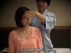 Subtitled Asian hotel rubdown oral sex nanpa in HD