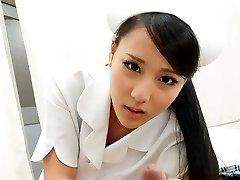 Scorching Nurse Ren Azumi Screwed By Patient - JapanHDV