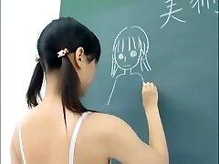 chinese schoolgirl nude in classroom