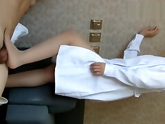 Japanese FOOTJOB护士学姐高跟鞋肉丝踩足交 超级爽