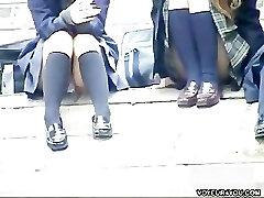 Hidden Cam Stair Open-wide Legs