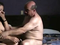 Indian prostitude girl screwed by oldman in hotel room.