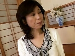 Breasty Japanese granny screwed fledgling