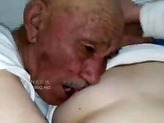 Old man pummel grandma