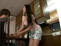 Busty MILF Meguri seduce and fuck daughter's innocent boyfriend