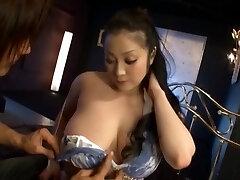 Lovemaking craving MILF brunette Asian Minako Komukai giving blowjob and drilled hard