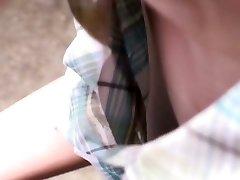 Cute asian female gets filmed by voyeurs