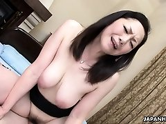 Asian wife got her hairy pussy pounded after a 69