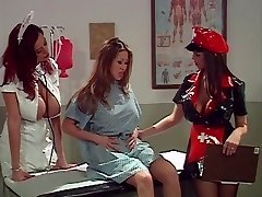 Big jugs asian administered an cleaning by 2 smoking super-fucking-hot nurses