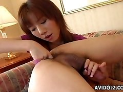 Asian whore gobbles his caboose and sucks his donger