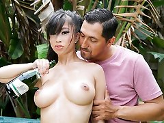 TittyAttack - Hot Asian Babe Melon Fucked