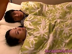 Japanese housewife Milf is titfucking her boy