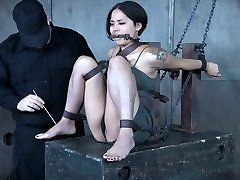 Pretty Japanese babe Milcah Halili is penalized with vibrator and assfuck beads