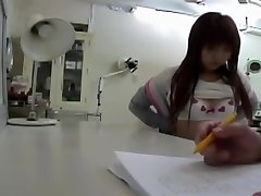 Doctor.s vibrator made this Japanese babe get an climax