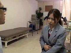 Wild hot medical examination for a smoking hot Japanese gal
