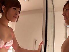 Fabulous Japanese chick Minami Kiritani in Crazy couple, showers JAV gig