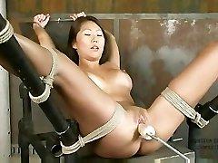 Beti Hana Strapped And Machine Fucked