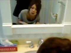 Korean Teen Gf Quickie in Bathroom!