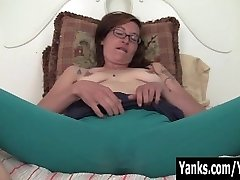 Tatted Sylvie Masturbating Her Bushy Slit