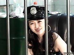 Japanese Femdom Jail Guard Strapon