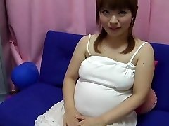 yui aihara - drăguț japoneză însărcinată să se joace cu sfârcurile