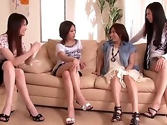 Japanese Knob Shared by Group of Horny Femmes 1