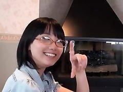 Chinese Glasses Girl Blowjob