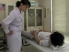 school nurse giving a fine hand deep throat