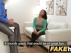 Fake Agent Enormous boobs Japanese wants hard fuck on the casting bed