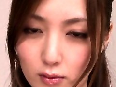 Japanese milf sucking dick before facial