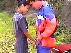 French asian anal in the woods
