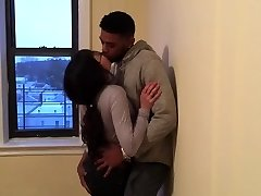 Korean student making out with her first ebony dude.
