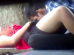Myanmar Duo Making Love in Park