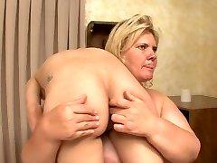 BBW breaks and humiliates weak hot blonde