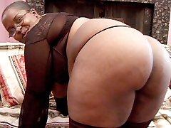 Black BBW having her plump ass cock stuffed