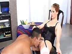 Femdom Milf with a food fetish