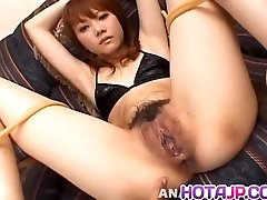 Saki Tachibana strapped gets hump toys in ass
