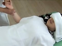 Gorgeous Jap gets screwed in insatiable spy cam massage pinch