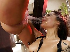 This spurting ass fucking threesome will make you rock hard